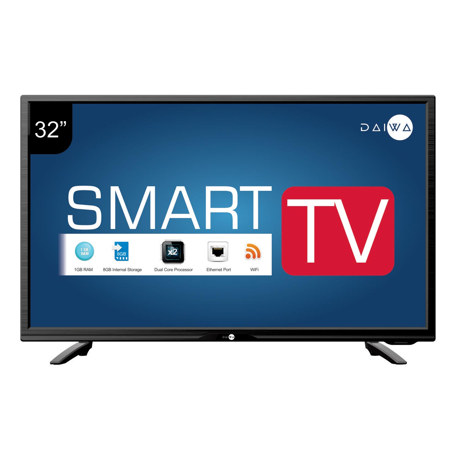 daiwa d32c4s 80 cm smart led tv 32 inch hd resolutiondaiwa. Black Bedroom Furniture Sets. Home Design Ideas